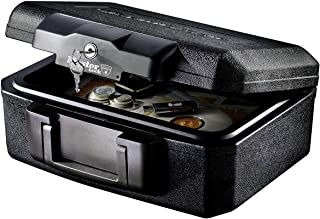 Master Lock Fire Safe, Extra Small Key Lock Fire Resistant Chest, Best Used for Cheque Books, Pictures, Small Electronics, Storage Devices and More