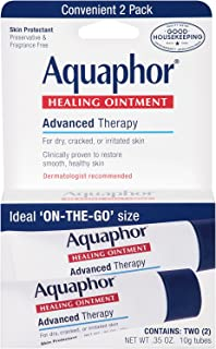 Aquaphor Healing Skin Ointment, Advanced Therapy, 2 Pack, 0.35 oz ea (Pack of 2)