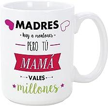 MUGFFINS Taza para Regalar a Madres - Madres Hay a Montones Pero tú Mama vales Millones - 350 ml - Tazas con Frases de Regalo para mamás