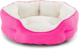 Pawsome Round Cat Bed for Indoor Cats Clearance Washable Dog Bed for Puppy and Kitties with Slip-Resistant Bottom, Plush F...