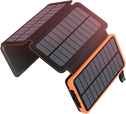 25000mAh Solar Charger ADDTOP Portable Solar Power Bank with Dual 2.1A Outputs Waterproof External Battery Pack Compatible Most Smart Phones, Tablets and More (92.5Wh 2018 Upgraded)
