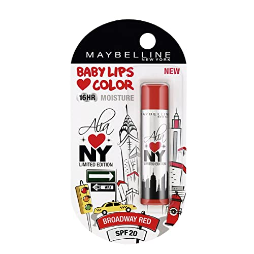 Maybelline Baby Lips Alia Loves New York, Broadway Red, 4g