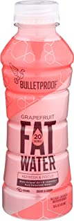 Bulletproof FATwater, Sugar-free Ketogenic Brain Octane and B Vitamins, Drink Fat Power Up (Grapefruit)(PACK OF 12)