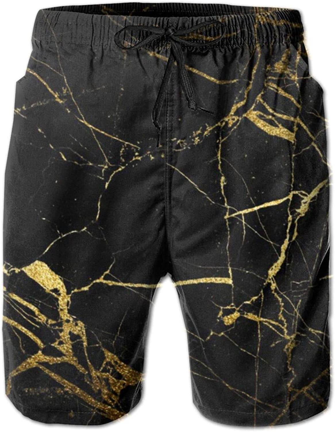 Sale Branded goods Yt92Pl@00 Men's 100% Polyester New and Gold Black Wallpaper Beac
