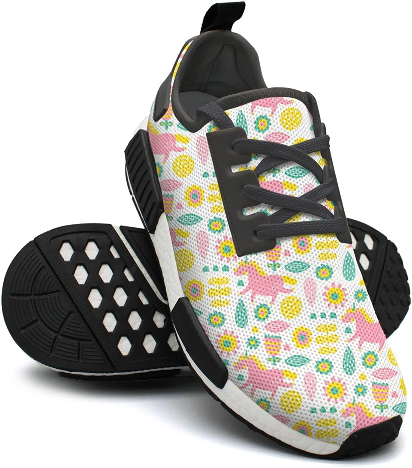 White Pink Unicorn Sunflowers Outdoor Sports colorful Running shoes Womens NMD