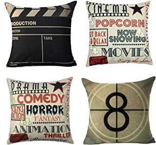 YOENYY Movie Theater Cinema Personalized Home Decor Design Throw Pillow Cover Pillow Case..