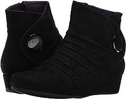 Black Suede/Black Mop Button