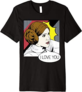Leia I Love You Pop Art Couples Premium T-Shirt