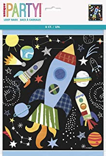 Unique Party 73273 - Outer Space Party Bags, Pack of 8