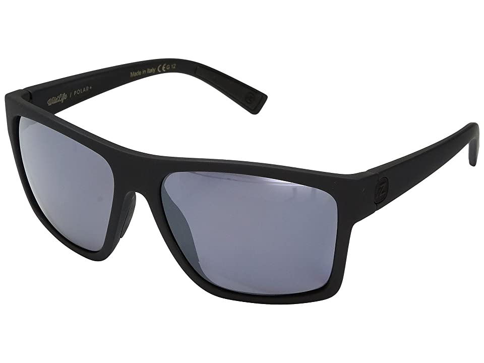 VonZipper Dipstick Polar (Black Satin/Wild Silver Flash Polar Plus) Sport Sunglasses