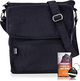 f477fb740 Travel Crossbody Purse - Hidden RFID Pocket - Includes Lifetime Lost & Found  ID