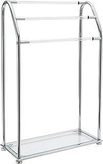 Organize It All Acrylic 3-Bar Towel Rack with Bottom Shelf