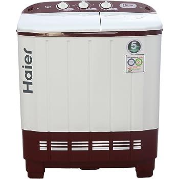 Haier 6.2 kg Semi-Automatic Top Loading Washing Machine (XPB62-0613RU, Ruby Red)