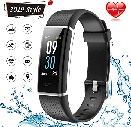 Lintelek Fitness Tracker, Waterproof Activity Tracker Watch with Heart Rate Monitor, Color Screen Smart Bracelet with Step Counter, Pedometer Watch for Women Men Kids