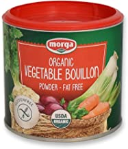 Morga |USDA-ORGANIC| - Vegetable Bouillon Powder • (5.3oz/150g) • [Vegan | Vegetarian | Bullion | Broth | Stock | Base | Soup | Cubes | Herbs | Seasoning | Packets]