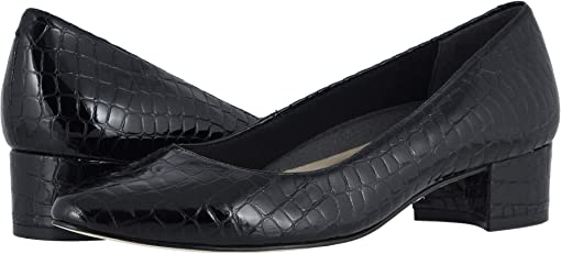 Black Small Patent Gator