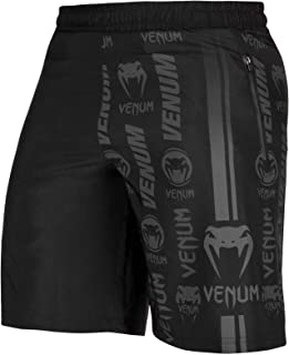 Venum Men's Trademark Fitness Short - Black/Black, Black/Black
