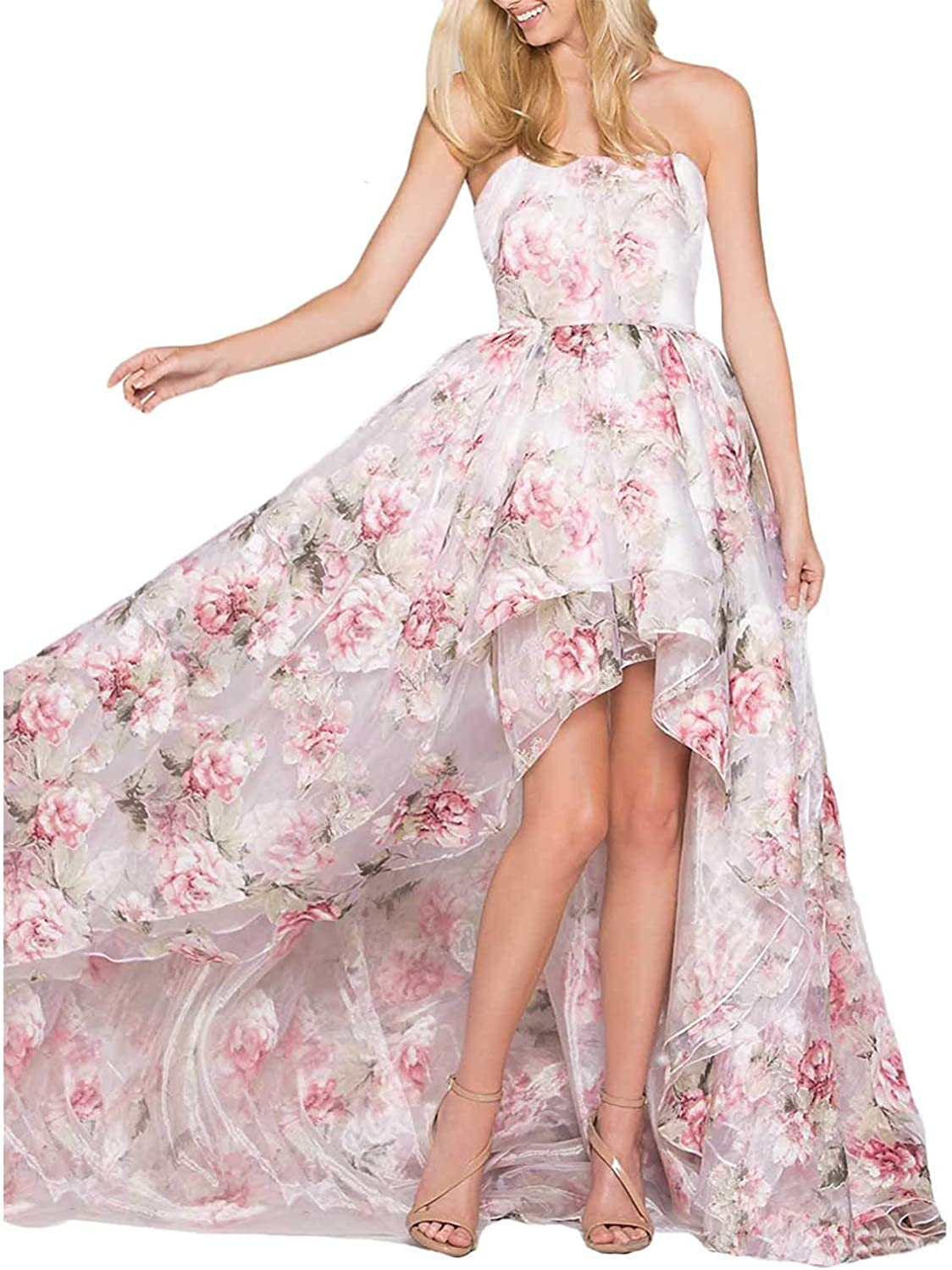 TTYbridal Elegant Floral Prom Homecoming Dress 2019 Aline Evening Party Dresses P20