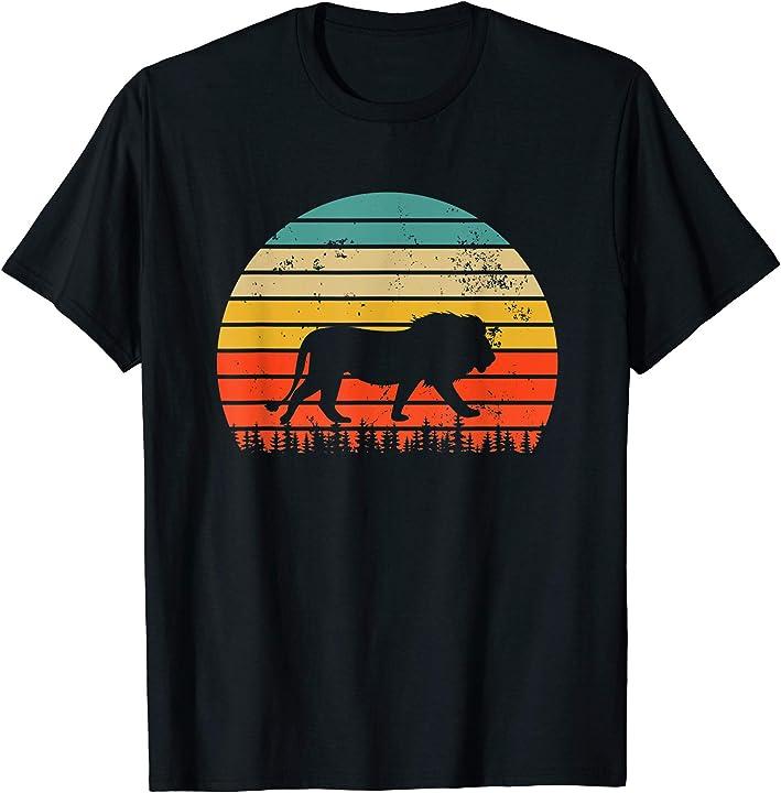 Cool Lion T-Shirt Retro Vintage Lion Shirt For Lion Lovers