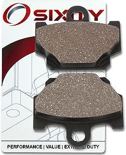 Sixity Front Organic Brake Pads 1993-1997 for Yamaha RX-Z 135 Set Full Kit 3UK3 3RSA 3RSB Complete