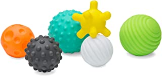 Infantino Textured Multi Ball Set - Textured Ball Set Toy for Sensory Exploration and Engagement for Ages 6 Months and up,...