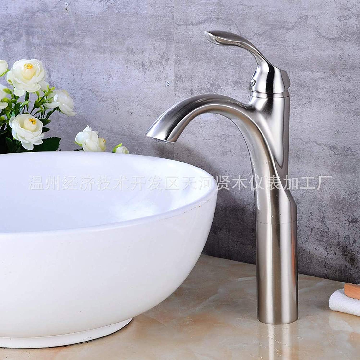 Water Tapsingle Hole Hot and Cold Modern Taps Kitchen Brass Faucet Bathroom Sink Basin Waterfall Tap Mixer Water Washroom Bath Tub Shower