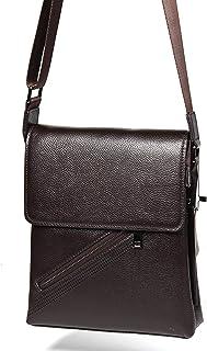 Crossbody Bag Genuine Leather Shoulder Bags Men's Small Square Bag Satchel Leather Leisure Work Bag 5L Outdoor Men's Bag Leather Bag