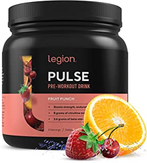 Legion Pulse, Best Natural Pre Workout Supplement for Women and Men – Powerful Nitric Oxide Pre Workout, Effective Pre Wor...