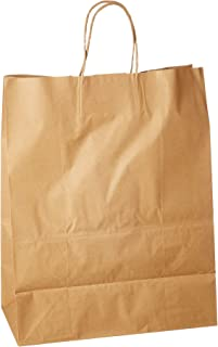 Generic Natural Kraft Paper Retail Shopping Bags with Rope Handles, 13 x 7 x 17 Inches, 50 Count