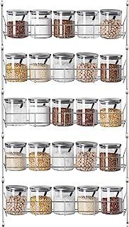 Rangement d'épices pour placard intérieur, rangement mural pour épices, étagère à herbes et épices à plusieurs niveaux, or...