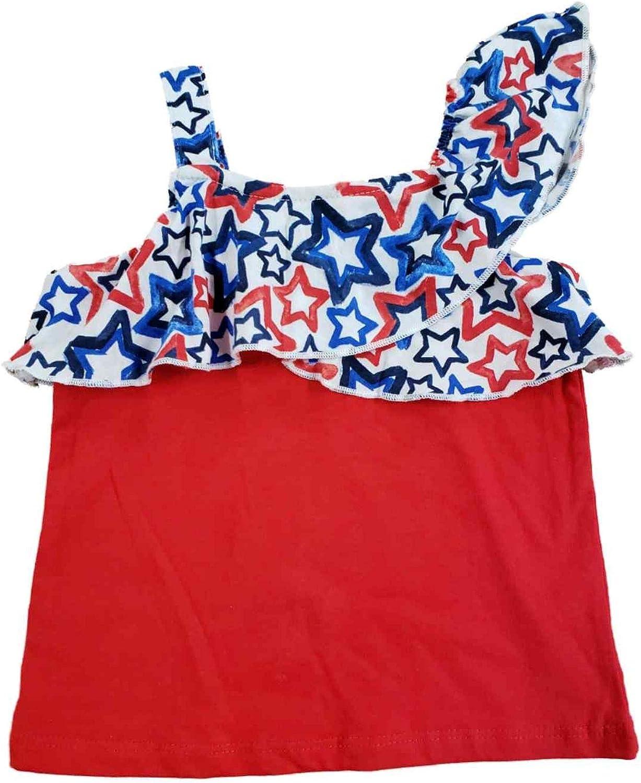 Celebrate Toddler Girls Red White Star Patriotic Blue Tan Over item Bombing new work handling Ruffle