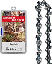 WONDER MASTER 1Pack 14 Inch Chainsaw Chain with 50 Drive Links Count 3/8 Inch Pitch Semi Chisel .050 Inch Gauge fit for Poulan Remington Husqvarna Poulan Homelite Ryobi Worx Oregon Chainsaw