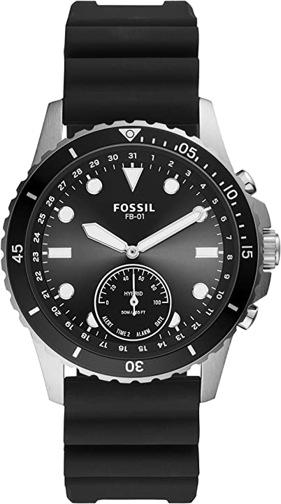 smartwatch Fossil hybrid connected uomo con cinturino in silicone ftw1302