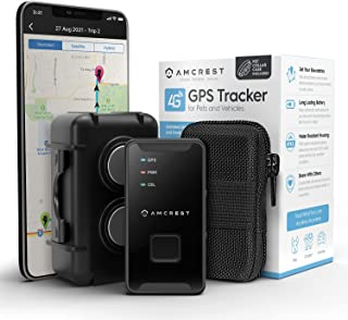 Amcrest 4G LTE GPS Tracker - Portable Mini Hidden Real-Time GPS Tracking Device for Vehicles, Cars, Kids, Persons, Assets ...