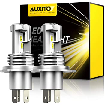 AUXITO H4 9003 LED Headlight Bulbs, 12000LM Per Set 6500K Xenon White for High and Low Beam Hi/Lo Plug and Play, Pack of 2
