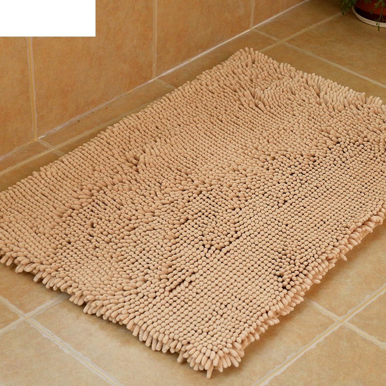 Doormat Thicken,Chenille mat Door, Indoor mats Bathroom,Anti-Slipping mats-D 60x150cm(24x59inch)