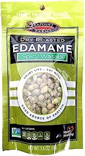Seapoint Farms Dry Roasted Edamame, Wasabi, Pouches, 3.5 oz, 3 pk