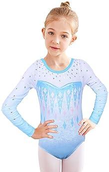 BAOHULU Girls Gymnastics Leotards One-Piece 3-14 Years Practice Outfit
