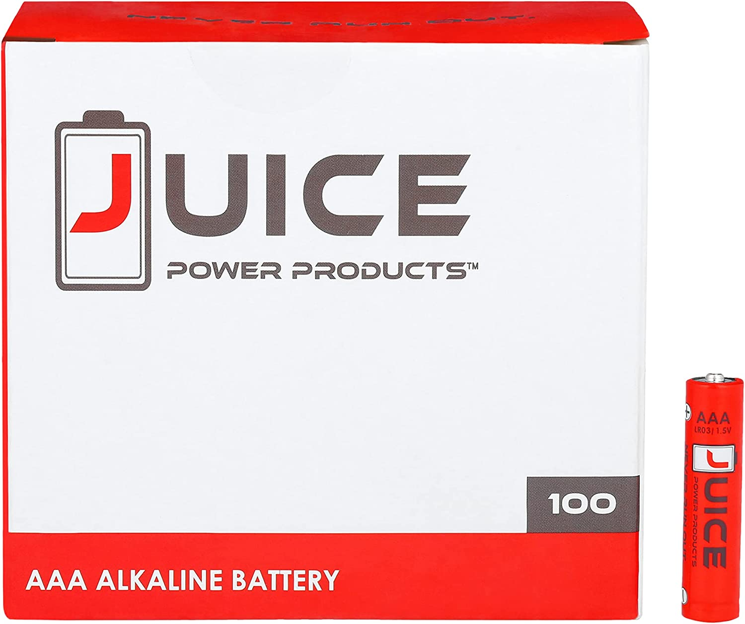 Juice Large-scale sale AAA Performance Alkaline 100 Count – Outlet SALE Batteries