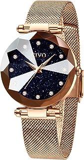 CIVO Montre Femme Or Rose Acier Inoxydable Montre Bracelet à Quartz Analogique Etanche Luxe Mode Montres pour Femme Entrep...