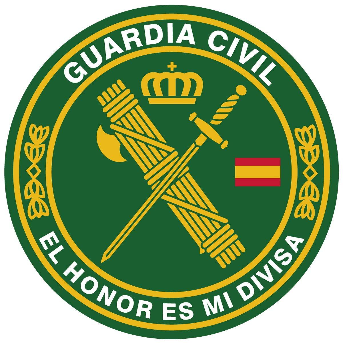 Artimagen Alfombrilla, Mouse Pad Textil 100% Poliéster Guardia Civil ø 20 cm.: Amazon.es: Electrónica