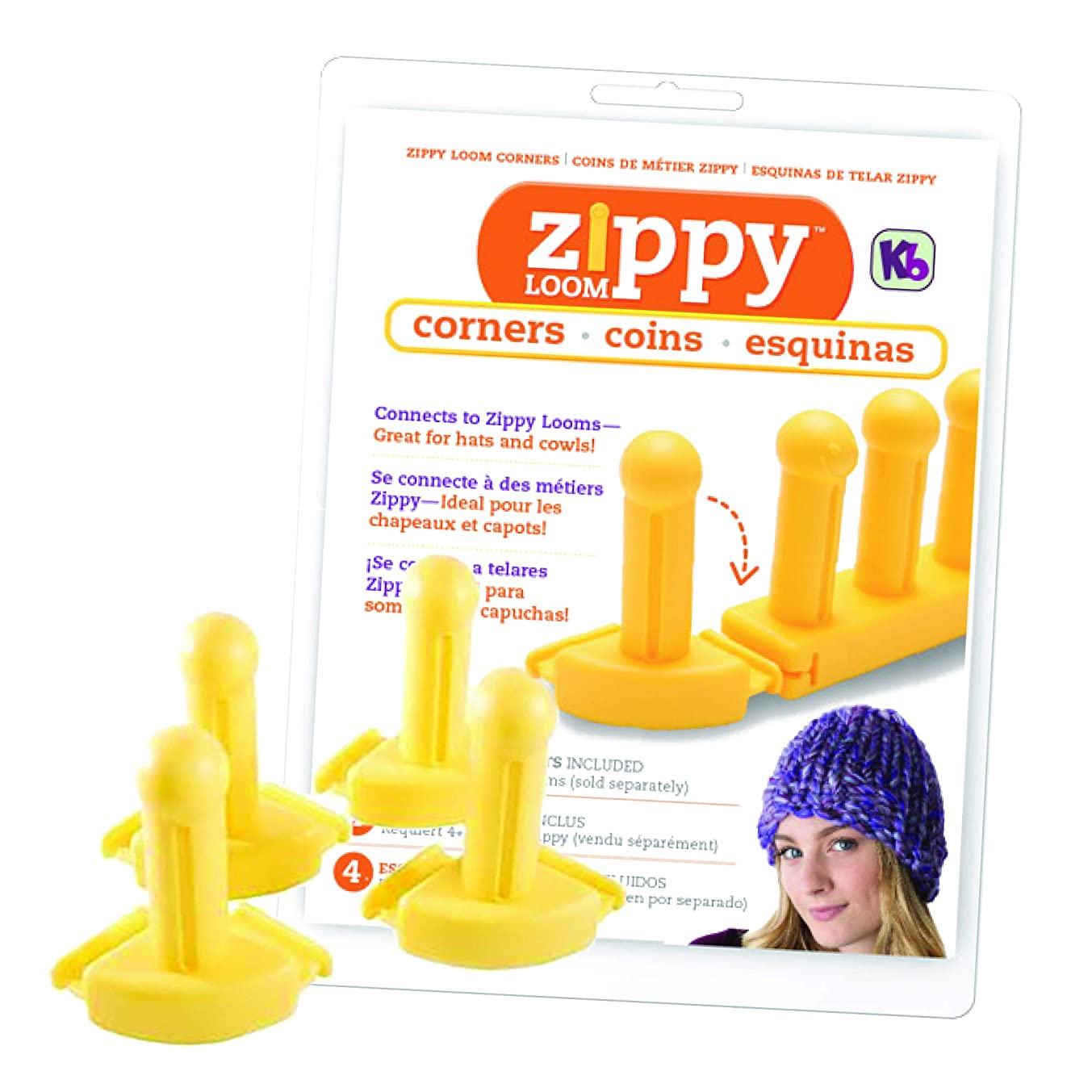 Authentic Knitting Board KB ((4) Piece Zippy Corners Set, One Size, Easy-Connect
