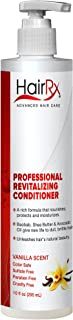 HairRx Professional Revitalizing Conditioner with Pump, Vanilla Scent, 10 Ounce