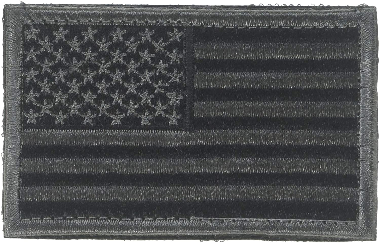 USA FLAG BLACK GRAY-AMERICAN Sale special price ON EMB IRON PRIDE-BIKER-SHOULDER 25% OFF