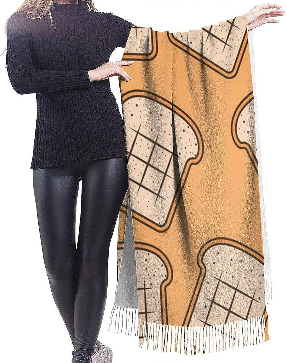 Bread Slice Cashmere Shawl Wrap Scarf Large Warm Scarf For Women