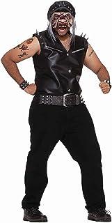 Forum Novelties Men's Road Rash Costume Shirt and Mask, Multi, One size