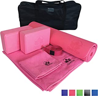 Yoga Set Kit 7-Piece 1 Yoga Mat, Yoga Mat Towel, 2 Yoga...