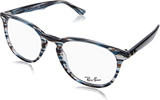 0fbcd37415 Ray-Ban 0rx7159 No Polarization Square Prescription Eyewear Frame Blue Grey  Striped 52 mm