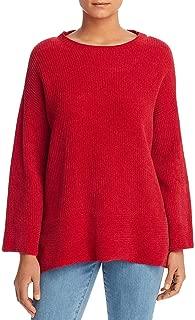 Eileen Fisher Womens Petites Organic Cotton Knit Sweater