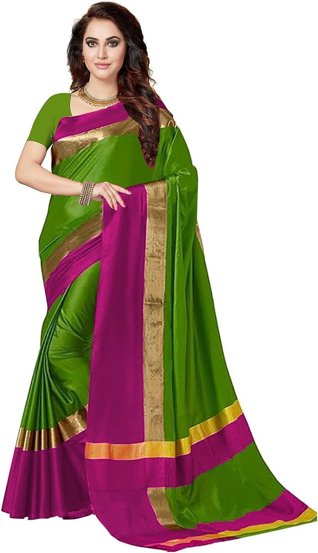 Ishin Women's Silk Saree With Blouse Piece